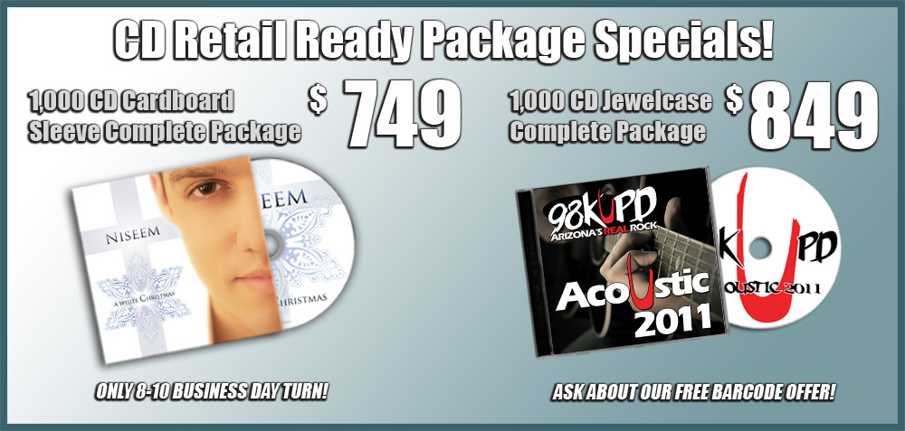 DVD Duplication Packages