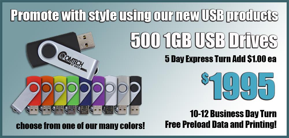 Custom Printed USB Drives
