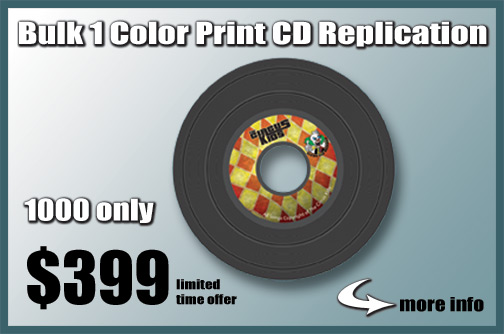 Bulk 1 Color Print CD Replication