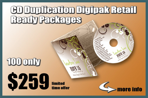CD Duplication Digipak Retail Ready