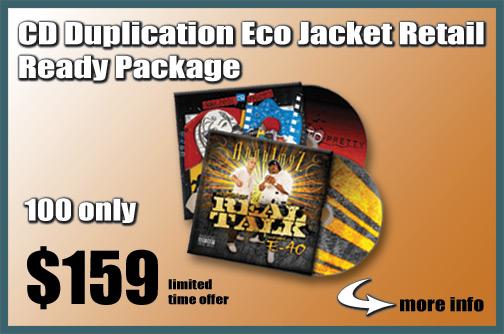 CD Duplication Eco Jacket