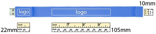 The printing area template for USB Wristbands