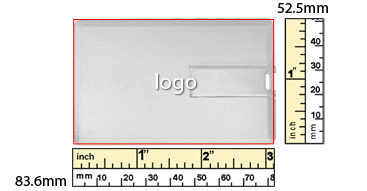 full area printing margin template for iCard USB