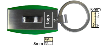 Printing margin template for USB Keychains