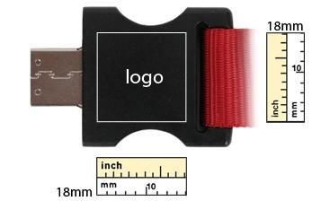 USB Lanyard Dimensions